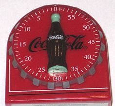 COCA COLA Coke Magnet Kitchen Timer Functional Collectible Hobbleskirt Bottle