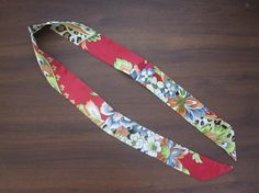 Red Silk Twilly Scarf Handbag Tie Silk Tie 100% by SummerMatcha