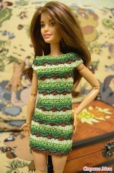 Приодели Терезу. Очень хотелось для нее сложное платье. Ведь дама она серьезная.  нитки Мулине (комбинат им. Кирова) крючок 0,5, нить мулине была разделена на три части по 2 ниточки.
