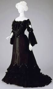 black and white victorian evening dress - Google Search