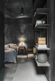 Concrete Walls Interior Trend in a Scandinavian Home Tour Textures Murales, Wall Texture Design, Stockholm Apartment, Polished Concrete, Scandinavian Home, Cool House Designs, Cool Walls, Textured Walls, Decoration