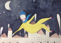 #snowman #gouache #watercolor #pen #illustration #winter Anna Pini Illustrations and drawings