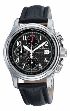 Revue Thommen Men's 16041.6537 Air speed Mens Black Face Automatic Chronograph Watch Watch Revue Thommen. Save 58 Off!. $1199.99. Water-resistant to 100 m (330 feet). Stainless steel case. Carbon-fiber dial. Black leather strap. Automatic movement