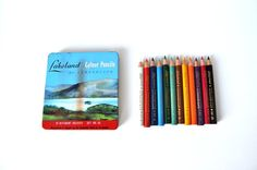Vintage English Colouring Pencils Tin Lakeland by Inklinks on Etsy, £20.00