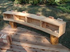 Hand crafted outdoor storage for blocks and loose parts. Providing storage for…