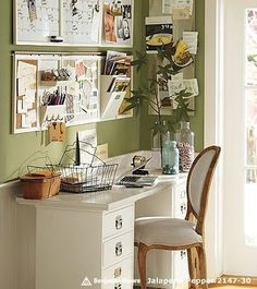 white/green :).....paint kitchen cupboards white and leave walls green