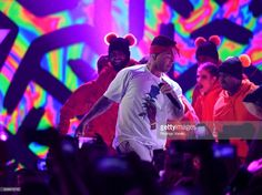 J Balvin performs on stage during Univision's 'Premios Juventud' 2017 Celebrates The Hottest Musical Artists And Young Latinos Change-Makers at Watsco Center on July 6, 2017 in Coral Gables, Florida.
