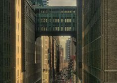 Gimbel's Bridge connecting the 34th Street store to Saks' Fifth Avenue location with a grand skybridge.