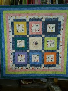 Quilt that Quilter's Pantry made for a local Relay for Life fund raiser. (photo is of finished quilt)
