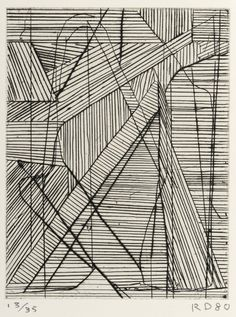 Richard Diebenkorn / Irregular Grid / 1980 / Drypoint and hard-ground etching