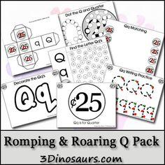 Free Romping & Roaring Q Pack - 3 Dinosaurs.com
