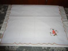 Vintage Cotton Blend Set of 8 Luncheon/Dessert Napkins  Floral Motif. #Unbranded