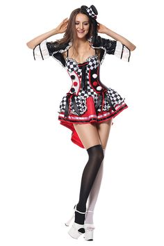 bf798359aff Womens Halloween Harley Quinn Costumes Black And White Harley Quinn  Halloween Costume