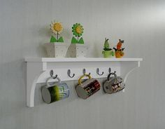 Shelf Rack Hatstand Cup Holder for Kitchen Ware purses or