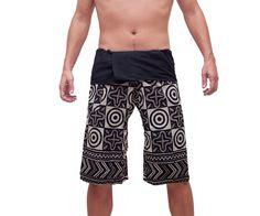 Thai Fisherman Pants Unisex Pants Wide Leg by AsianCraftShop, $15.00