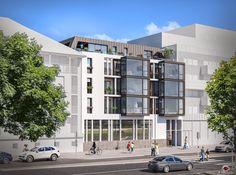 Illustration 3D commerciale d'un logement d'habitation pour Eiffage Immobilier