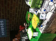 Minecraft party more snack pics Minecraft Birthday Party, 7th Birthday, Birthday Parties, Party Planning, Party Time, Robin, Birthdays, Party Ideas, Snacks