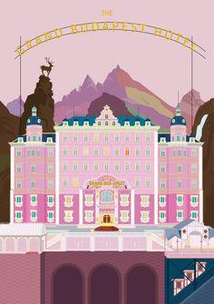 그랜드 부다페스트 호텔 _ The Grand Budapest Hotel - 브랜딩/편집 · 일러스트레이션, 브랜딩/편집, 일러스트레이션, 그래픽 디자인, 일러스트레이션