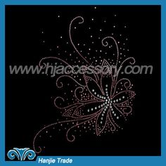 Hot-fix Rhinestone Transfers With Flower Design—Guangzhou Hanjie Trade Co.,Ltd.