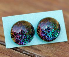 Elytra 528 Nail Polish Earrings by thenailnetwork on Etsy         The only thing I want in life at this point.