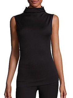 Rag & Bone Francis Wool Mockneck Top (Black) | Saks Fifth Avenue