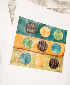 Dudley Redhead: Going dotti with gelli plate printing