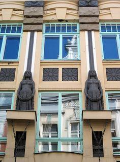 Estonian Art Nouveau #1    House located in Tallinn, Pikk St. 18 built in 1910  Architect: Jacques Rosenbaum  Sculptor: August Volz
