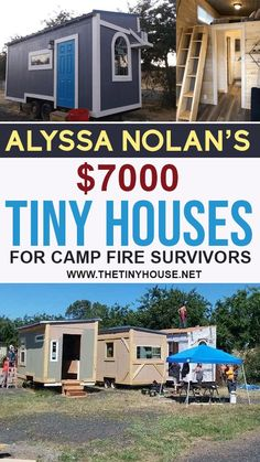 Alyssa Nolan is the founder of Tiny Houses for Camp Fire Survivors, which is an organization that is building and giving away tiny houses for the survivors of the devastating wildfire that leveled the town of Paradise, California. Alyssa is actually a wildfire survivor herself, having lost everything in the 2008 Butte Lightning Complex Fire. With no construction experience to start, Alyssa has designed and built 10 tiny houses to give away to fire survivors. Building A Tiny House, Tiny House Plans, Tiny House On Wheels, Tiny House Family, Tiny House Living, Paradise California, Cheap Tiny House, Tiny House Community, Camp Fire