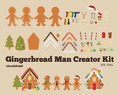 buy 2 get 1 free Gingerbread man Creator Kit by cloudstreetlab, $4.95