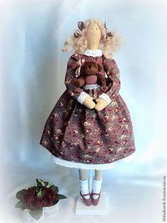 Куклы Тильды ручной работы. Кукла в стиле Тильда. Милочка... Тильдадворик.. Ярмарка Мастеров. Handmade, американский хлопок