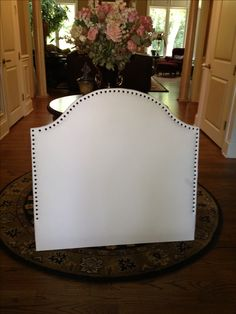 DIY Headboard for a dorm room... how about make it bigger for queen bed for a bed room :)