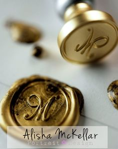 The Letter M Wax Seal photography print by ShareTheArt on Etsy