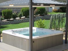 Outdoor Hot Tub Installation