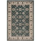 Lyndhurst Teal/Cream (Blue/Ivory) 5 ft. 3 in. x 7 ft. 6 in. Area Rug