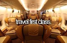 I have always wanted to go first class but its so expensive. Maybe I will be upgraded to first class some day ^^ wish me luck bucket list You Don't Have to Be a Celebrity to Fly Like One Bucket List Life, Life List, Summer Bucket Lists, College Bucket List, Bucket List For Girls, Teenage Bucket Lists, Karl Otto, Flying First Class, Bucket List Before I Die