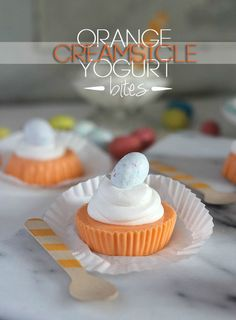 Orange Creamsicle Yogurt Bites
