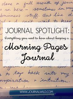 Find out how to keep a morning pages journal.This post is part of a weekly series where we exploreall the different types of journals you can keep.