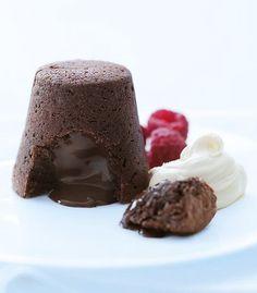 Donna Hay's chocolate fondant.