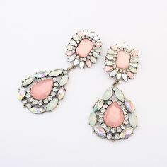 Mia Mi Glam Boutique - Peach Glam large diamond drop earrings, $24.00 (http://www.miamiglamboutique.com/peach-glam-large-diamond-drop-earrings/)