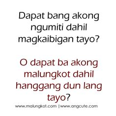 Tagalog Jokes - Best Funny Tagalog Jokes The best funny tagalog jokes, pinoy jokes, juan jokes tagalog, joke time pinoy, joke quotes tagalog Crush Quotes Tagalog, Tagalog Quotes Patama, Tagalog Quotes Hugot Funny, Beautiful Words, Sweet Love Words, Romantic Words, Filipino Quotes, Pinoy Quotes, Sad Love Quotes