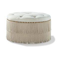 "Ottoman 36"" Round W/Tufted Top from the Raymond Waites Couture collection at LaneVenture.com"