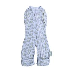 Convertible Leggies swaddle sack design � arms free with legs