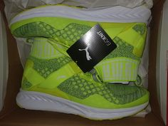 3e5259292af2 PUMA IGNITE evoKNIT Trainers Yellow Sneakers 189697-07 New Men s UK 9.5   PUMA