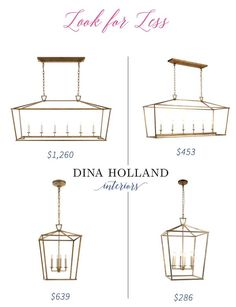 Look for Less: Darlana Pendant Knock-off Lookalike (dina holland interiors) I've been known to track Circa Lighting, Foyer Lighting, Dining Room Lighting, Strip Lighting, Interior Lighting, Lighting Ideas, Pantry Lighting, Kitchen Island Lighting, Kitchen Lighting Fixtures