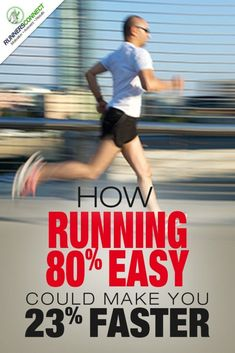 The research looking at high vs. low intensity training. This study found that runners who ran 80% of their runs easy, improved 23% more than those who ran 65% of their training easy. Triathlon Training, Half Marathon Training, Marathon Running, Training Plan, Running Training, Ironman Triathlon, Strength Training, Pilates Workout, Running Workouts