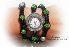 """ANNAHERA"" - handmade for your soul: Ceas Shamballa Your Soul, Bracelet Watch, Watches, Bracelets, Handmade, Accessories, Hand Made, Clocks, Clock"
