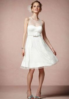 Sweet Jewel Tulle Hook and Eye Closure A line Wedding Dress - Angeldress.co.uk