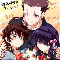 Sousei no Onmyouji || Ryougo Nagitsuji, Rokuro Enmadou, Benio Adashino, Kinako. ( #Anime #Manga )