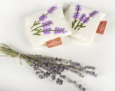 Lavender sachet - hand embroidery and natural plant inside Lavender Sachets, Gifts For Your Mom, Hand Embroidery, Sleep, Calm, Plant, Natural, Flowers, How To Make