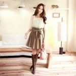 Adorable dress and boots combination